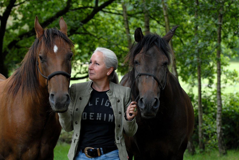 Wendy met Esplendido en Pepper | Samen paardencoaching | Heelsum