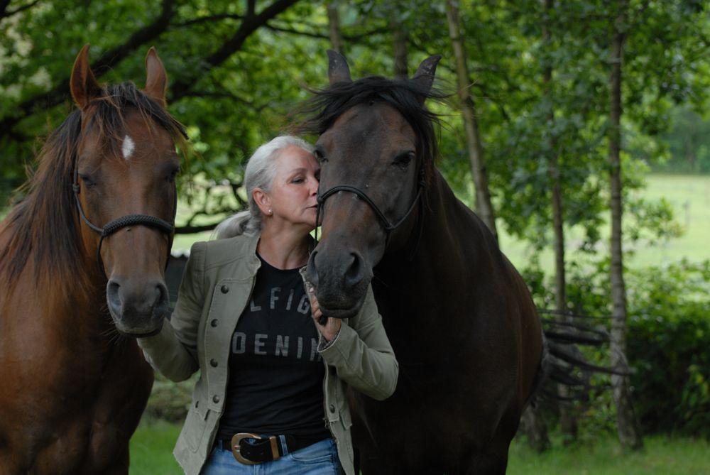 Wendy met Esplendido en Pepper   Samen paardencoaching   Heelsum